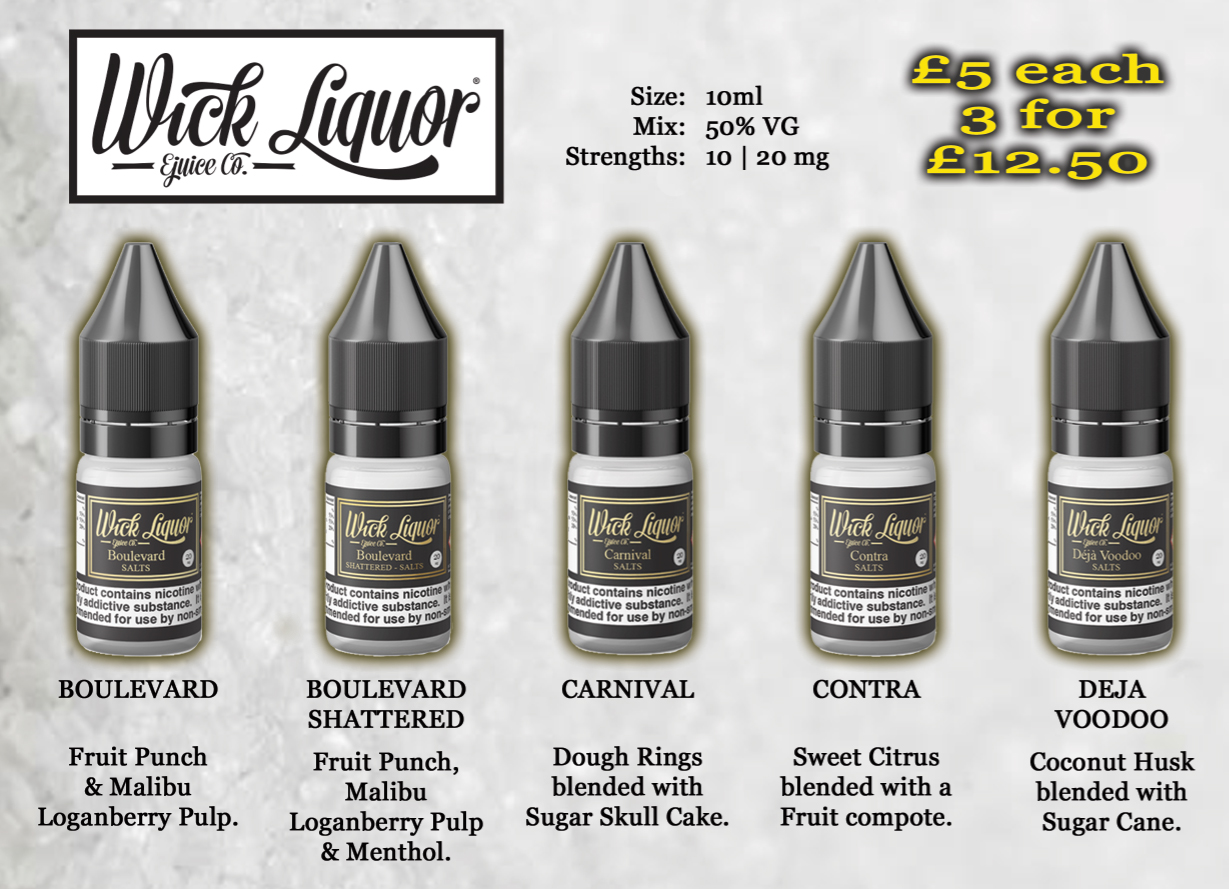 Wick Liquor Salt Nics