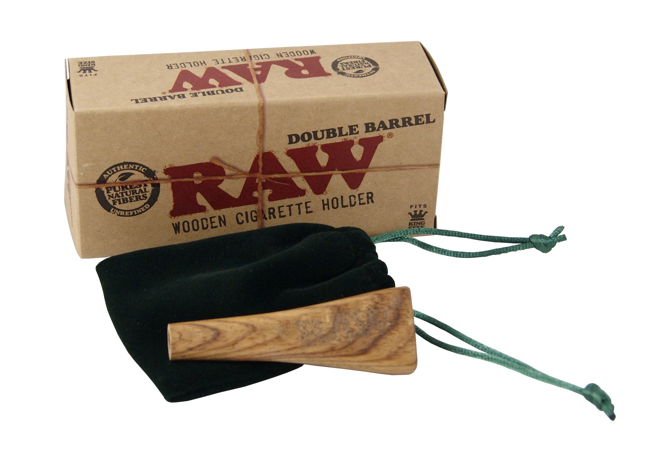 RAW - DOUBLE BARREL KINGSIZE  WOODEN HOLDER