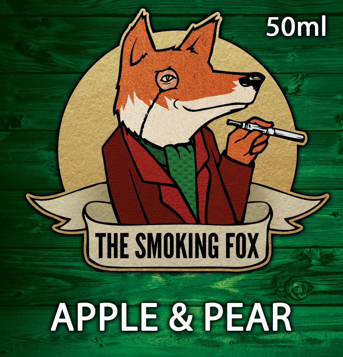 THE SMOKING FOX 50ml SHORTFILL - APPLE & PEAR