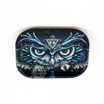 METAL ROLL TRAY - OWL (18x14cm)