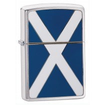 ZIPPO - BRUSHED CHROME SCOTLAND FLAG EMBLEM (200S)