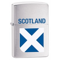 ZIPPO - BRUSHED CHROME SCOTLAND FLAG (200SF2)