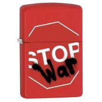 ZIPPO - STOP WARS RED MATTE (28140)