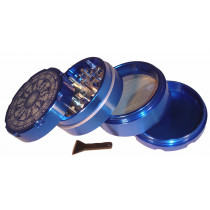 4 PART SHARP TOOTH GRINDER- DARK BLUE