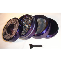 4 PART SHARP TOOTH GRINDER- PURPLE