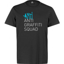 8 MILES HIGH - ANTI ANTI GRAFFITI T-SHIRT (BLACK)