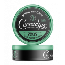 Cannadips 150mg CBD Pouches - Natural Mint