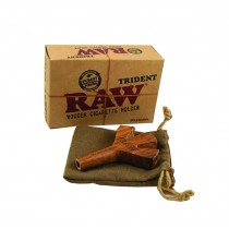 RAW - TRIDENT WOODEN CIGARETTE HOLDER