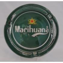 Small Round ASHTRAY - marihuana green