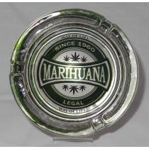 Small Round ASHTRAY - marihuana way of life