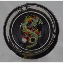 Small Round ASHTRAY - tattoo series - dragon