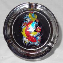 Small Round ASHTRAY - tattoo series - fish