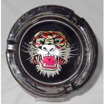 Small Round ASHTRAY - tattoo series - tiger