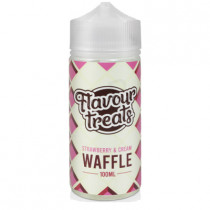 FLAVOUR TREATS 100ml - STRAWBERRY & CREAM WAFFLE