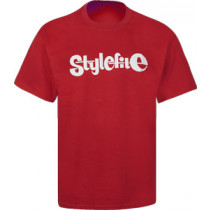 STYLEFILE T-SHIRT RED / WHITE