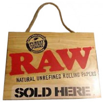 "RAW WOODEN ""SOLD HERE"" SIGN"